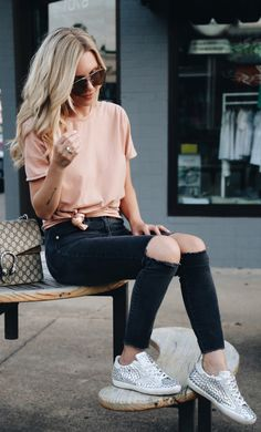#fall #outfits women's beige crew-neck shirt