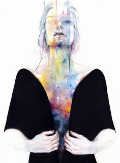 New water colour by agnes-cecile, 'another one (inside the shell)'