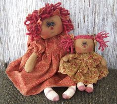 Sis and Me Primitive Raggedy Dolls