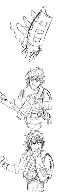 Hiccup...... what are you doing with my arm........?