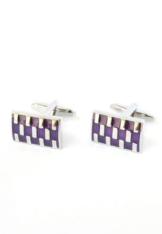 Rectangular Purple & Silver Cufflinks! #splicecufflinks #cufflink #cufflinks #mensfashion #men #mensaccessories #menstyle #style #singapore #england #fashion #supportlocal #unique #standout #groomsmencuffs #groomsmencufflinks http://www.splicecufflinks.com