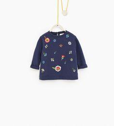 Sweatshirt met print op het voorpand-SWEATSHIRTS-BABY MEISJE | 3 maanden - 4 jaar-KINDEREN | ZARA Nederland