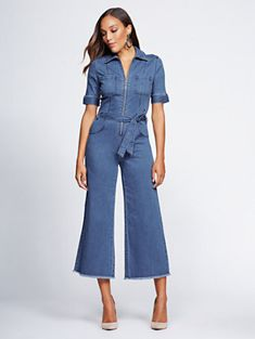 d1698080b8 Shop Gabrielle Union Collection - Tall Denim Jumpsuit. Find your perfect  size online at the