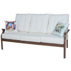 Panama Jack Island Breeze Deep Seating Sofa with Cushions Fabric: Canvas Macaw