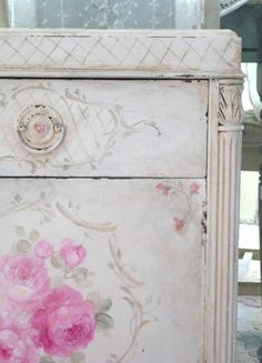 Debi Coules Shabby French Chic Art / Chest / Night stand / Dresser