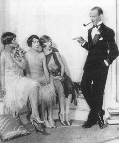 Fred Astaire apparently being a little skeezy with the chorus girls... Wonder what movie this is?