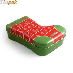 Thanks to its lovely and cute appearance, sock shaped candy tin, as an eye-catcher under the Christmas tree or as decoration for the festival gift table our Christmas tin cases.    http://www.tinpak.us/Products/ChristmasGiftTinBox.html