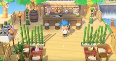 Animal Crossing Cafe, Animal Crossing Wild World, Animal Crossing Villagers, Animal Crossing Qr Codes Clothes, Animal Crossing Pocket Camp, Motif Acnl, Garden Animals, Island Design, Beach Bars