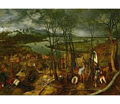 Pieter Bruegel the Elder : Gloomy Day (Kunsthistorisches Museum (Austria - Vienna)) ピーテル・ブリューゲル Renaissance Paintings, Renaissance Art, Large Painting, Painting Frames, Wallpaper Angel, Pieter Brueghel El Viejo, Hunters In The Snow, Art Gay, Kunsthistorisches Museum Wien