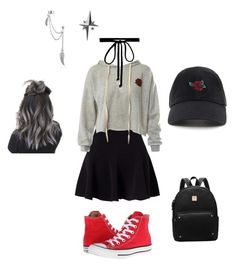 """""""Rose Garden"""" by ocean143242 on Polyvore featuring Miss Selfridge, Sans Souci, Converse, Joomi Lim, Forever 21, Bling Jewelry and Tessa Packard"""