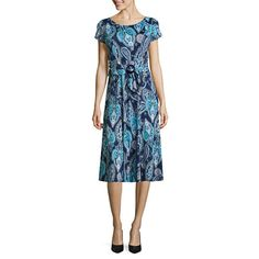FREE SHIPPING AVAILABLE! Buy Perceptions Short Sleeve Fit & Flare Dress at JCPenney.com today and enjoy great savings.