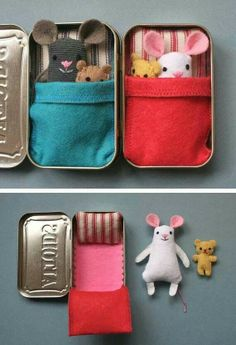 Tin bed for stuffed animal