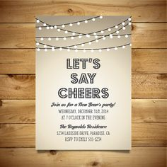Printable New Year's Party Invitation  Vintage by birDIYdesign