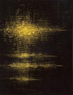FINZI 1954 - Ritmi vibrazioni, tempera su tela cm 110x84