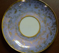 Vintage Decorative Plate Winterling Bavaria Germany Purple Gold Details Vintage Saucer Collectible PanchosPorch (8.75 USD) by PanchosPorch