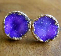 "Beautiful ""druzy"" earrings! (Thanks to everyone on Pintrest who helped me track these down!)"