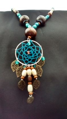Handmade dreamcatcher pendant with matching bracelet and earrings  £25.00