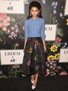 Kate Bosworth, Zendaya, Kate Mara & More Stars Celebrate at H&M x Erdem Runway Show & Party!: Photo Kate Bosworth, Zendaya, Kate Mara and plenty more stars are celebrating the launch of the H&M x Erdem collaboration! The celebrities came to celebrate the… Zendaya Swag, Moda Zendaya, Zendaya Outfits, Zendaya Style, Kate Mara, Zendaya Coleman, Kirsten Dunst, Kate Bosworth, Look Fashion
