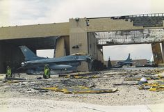Two 31st Fighter Wing's F-16s destroyed by Hurricane Andrew 25 years ago today. The fighters were left to the storm as they were not in flyable condition. The 31st FW never returned to Homestead. [1754  1203]