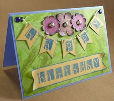 Lift Bridge Cards and Crafts: Banners for a Happy Birthday Card Very easy tutorial on how to make a banner