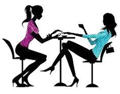 vinyl wall decal nail salon beauty spa for woman girl stickers rh pinterest com
