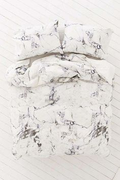 Home accessory: white marble bedding marble bedroom bedding