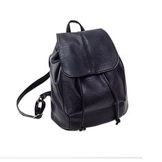 Fineshow Women Leather Hiking Casual Rope Shoulder Backpack School Bags  Travel -- Be sure to 910ad3a2c43a3