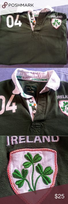 8ab0b6f7e1e64 Landsdowne Ireland Rugby Shirt XL Lansdowne Heritage Collection rugby top.  Fourth Province Rugby Nation -