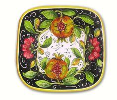 Piatto quadrato (Quad1919-M) - Artigianato Italia - Articoli da regalo delle migliori marche Italiane