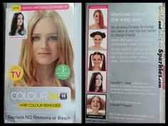 Colour B4 Hair Colour Remover - Extra Strenght - read my review here (or click on the photo) - http://www.goldandsilversparkles.com/2013/03/colour-b4-hair-colour-remover-extra.html #beautyblog #blogs #cosmetics #review