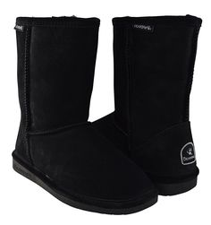 BEARPAW Women's Emma Short Shearling Boots 608-W Black >>> Quickly view this special boots, click the image : Bearpaw boots