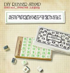 """Springtime"" stamp set"