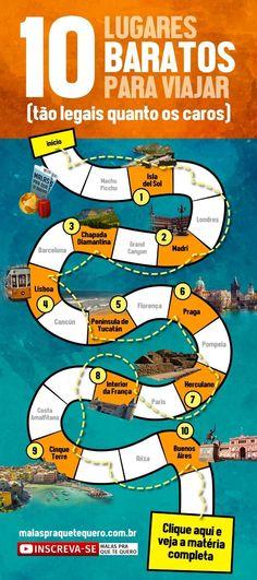 Quer descobrir lugares baratos para viajar sem perder qualidade? Reunimos 10 lugares perfeitos para suas férias, com custo bem pequenininho. (feat. @eusouatoa) Clique aqui http://mundodeviagens.com/viajar-barato/ e descubra agora excelentes plataformas online para Viajar Barato!