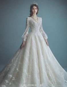 15 Statement-Making Regal Wedding Dresses Fit For A Modern Queen : 15 Statement-Making Regal Wedding Dresses Fit For A Modern Queen Top Wedding Dresses, Wedding Dress Trends, Princess Wedding Dresses, Designer Wedding Dresses, Bridal Dresses, Wedding Gowns, Wedding Hijab, Wedding Cakes, Lace Bridal