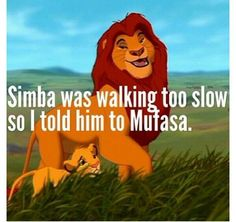 "Puns on Twitter: ""Simba was walking too slow so I told him to MUFASA…"