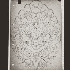 Barong sketch #barong #illustration #bali #sketch #wip #mask #tattoo #traditional Little Krishna, Mask Tattoo, Barong, Japan Tattoo, Tattoo Traditional, Balinese, Tattoo Inspiration, Zentangle, Making Ideas