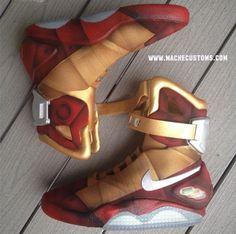 """Nike Air Mag """"Iron Mag"""" Custom by Mache"""
