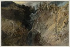 Joseph Mallord William Turner 'A Ravine in the Pass of St Gotthard', 1802
