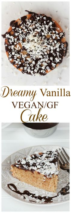 Best Dreamy Vegan Vanilla Gluten-Free Birthday Cake. This cake is soft, fluffy, really moist and JUST 8 ingredients! Crowd-pleasing cake for all birthdays and parties! Nobody will believe it's (OR KNOW) vegan or gluten-free!