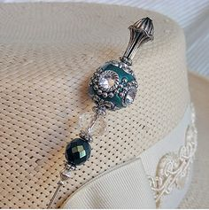 Teal Hand Made Ceramic Round Beads hatpin...making one now :)