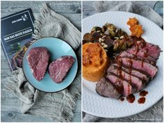 Weihnachtliches Rinderfilet mit Lebkuchensoße | Rezept | Kochen Angus Rind, Meat, Food, Christmas Cooking, Christmas Meals, Beef Fillet Recipes, Natal, Brussels Sprouts, Delicious Dishes