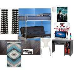From boys to men by vonda-brooks on Polyvore featuring interior, interiors, interior design, home, home decor, interior decorating, Prepac, Schylling, A.B.Gee and Designers Guild