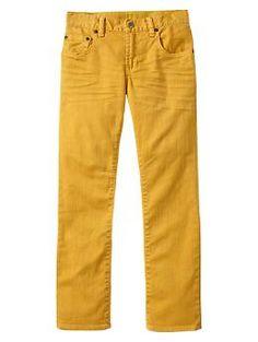 Yellow straight jeans | Gap