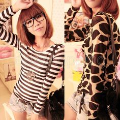 Q537 Sexy Women Ladies Slim Basic Fashion Sheer Mesh Long Sleeve Stretchy Leopard/Black/Stripe/Stone T-Shirt Autumn Tops Blouse