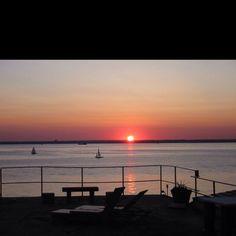 Backyard sunset  Glen Cove, NY