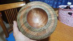 Mahogany woodturning bowl