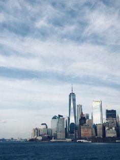 (photo taken from Staten Island ferry) Staten Island Ferry, Manhattan, New York Skyline, Cities, Journey, Travel, Viajes, Traveling, City