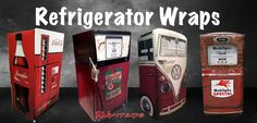 Refrigerator wraps. Custom made to fit your refrigerator. Free Shipping and tools