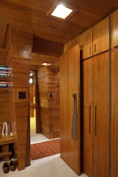 View from Master's Bedroom. John C Pew House. Madison, Wisconsin. 1940. Usonian Style. Frank Lloyd Wright.