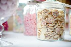 sweetie buffets at weddings are ace. jars available from www.theweddingofmydreams.co.uk